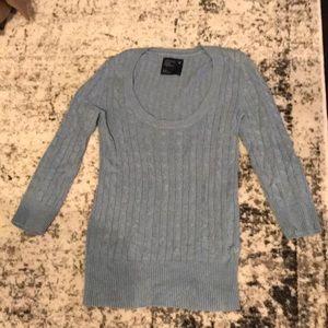 Iight blue sweater